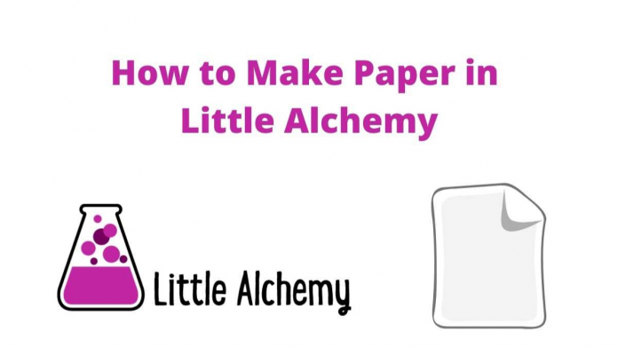 how to make paper in Little Alchemy